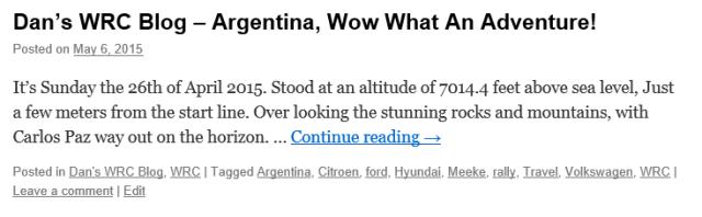 argentina adventure